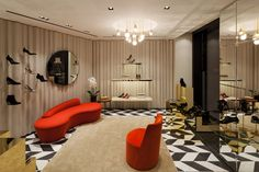 Sergio Rossi Goldenes Quartier Vienna Sergio Rossi, Divider, Room, Furniture, Home Decor, Bedroom, Decoration Home, Room Decor, Rooms