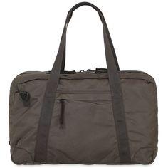 Allsaints Men Nakano Nylon Twill Holdall Bag (387 CAD) ❤ liked on Polyvore featuring men's fashion, men's bags, khaki, mens bag, mens holdall and mens holdall bag