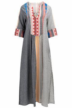 Devotion Damen Maxikleid Kafkan Multicolor | SAILERstyle Short Sleeve Dresses, Dresses With Sleeves, Shirt Dress, T Shirt, Fashion, Ladies Day Dresses, Tunic, Cotton, Nice Asses