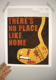 There's No Place Like Home Print by ilovegreyskies on Etsy, $15.00