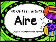 Utilisez ces 48 cartes à tâches sur l'aire pour aider à vos élèves à pratiquer ce concept. Les premières 24 cartes demandent que vos élèves utilisent une règle pour calculer l'aire des figures. Les cartes 25 à 40 demandent aux élèves de calculer la mesure du côté manquant (les figures ne sont pas à l'échelle).