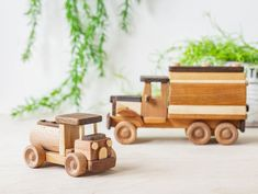 This sturdy, well-made wooden mini truck is a classic loved by both little girls and boys alike. It is created by hand with ecologically clean wood and safe linseed oil. The surface is nice and smooth. This unpainted vehicle is durable to hold up to your children playing with it for many years. The