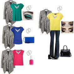 """Houndstooth Theme"" by ladymilla on Polyvore"
