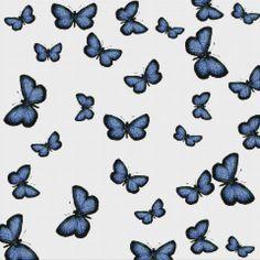 Butterflies Recycled Glass Mosaic Tile pattern from MosaicTileSupplies.com
