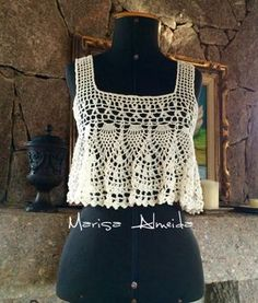 Marisa Almeida Tricot Crochet : Cropped Crochet Liz