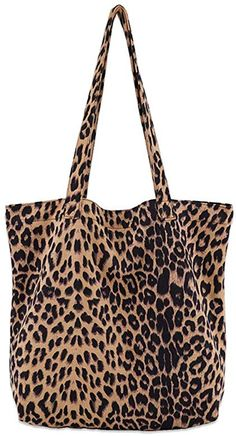 Womens Leopard Tote Casual Travel Shoulder Purse Bag Handbag College Beach Pack Shoulder Purse, Shoulder Handbags, Shoulder Dress, Leopard Tote, Leopard Prints, Cheetah, White Shorts Womens, Sundresses Women, Womens Clothing Stores
