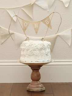 Smash cake buttercream decoration ONE Cake Smash Cake Topper / Photography Prop / by nhayesdesigns