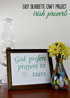 Silhouette Craft Projects: Framed Irish Proverb