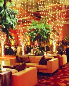 Love the curtain of hanging lights which separate the dining and lounge/dance floor.