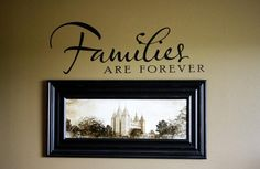 "Families are Forever 9""x4"" Vinyl Lettering Temple Pictures Wall Quote Decals Stickers"