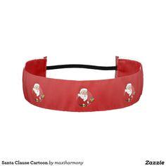Santa Clause Cartoon Athletic Headbands