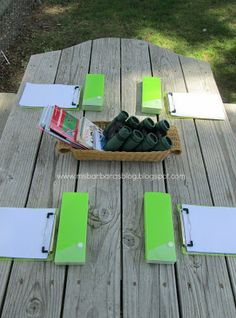 For the Children: Preschool Explorers.  Binoculars, writing pads and some reference books.