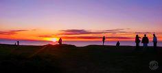Solnedgang ved Korshage ved Rørvig i Odsherred