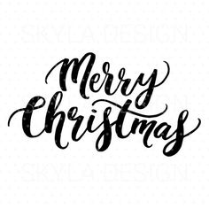 Merry Christmas - This is an instant download of a digital file used as a printable or cutting file. You can use it for mugs, decals, T-shirts, scrapbooking. You can print it and frame it or even use as photo overlays on social media. WHAT YOU GET • SVG file • DXF file • PNG (300 dpi,