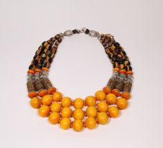 Mid-Size Saffron Collar #4 - Maghreb Series
