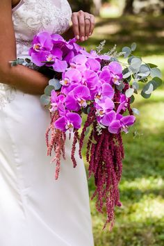 Lush Harvest Styled Shoot, Purple bouquet, rustic wedding, wedding details, cascade bouquet, orchid wedding bouquet, outdoor wedding, wedding ideas, ashley gerrity photography