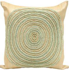 Aqua Bead Circle Pillow