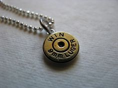 Personalized Sterling Silver Bullet by bluesparrowtrinkets on Etsy