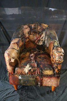 Ed Gein inspired latex skin chair horror film prop by KaylaArenafx Halloween Make, Halloween Night, Vintage Halloween, Halloween Ideas, Weird Pictures, Creepy Photos, Amazing Pictures, Serial Killers, Dark Art