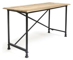 5 Horizons - Lafayette Desk - The combination of reclaimed wood and stable steel legs create a perfectly imperfect industrial look to this c. Home Office Furniture, New Furniture, Painted Furniture, Industrial Desk, Industrial Furniture, Minimalist Desk, Contemporary Desk, Interior Decorating Styles, Interior Design