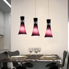 Super nice! Estas lamparas colgantes modernas que esten bajas sobre ...