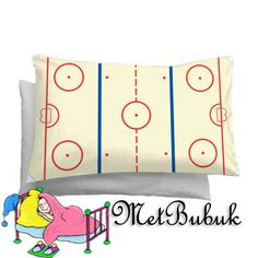 Pillow Case  Ice Hockey Rink   Rectangle 20 x 30 by MetBubuk, $13.85