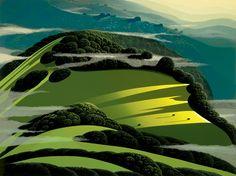 Eyvind Earle / Beyond The Valley #art #illustration