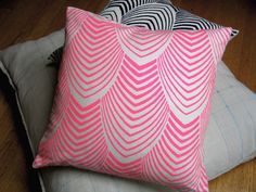 OMG LOVE THESE :)    Neon Arches Throw Pillow by NightByrd on Etsy, $75.00