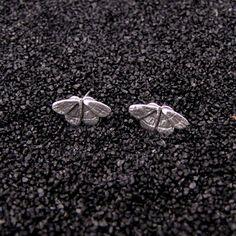 Tiny Moth Earrings by Nancy Edwards