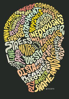 i should do something like this next time i want to paint what's inside my mind... love the typography