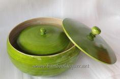 Vietnam hand coiled bamboo resin