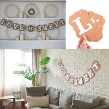 Unique LOVE IS SWEET Party Sign Wedding Bunting Banner Garland Photo Props #71746(China (Mainland))