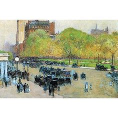 Buyenlarge 'Spring Morning in the Heart of Manhattan' by Frederick Childe Hassam Painting Print