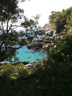 lagoon on lokrum island, croatia.