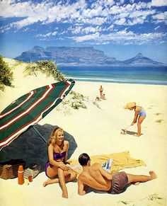 Blouberg Strand 1953 - Old Pictures of Cape Town Most Beautiful Cities, Beautiful Beaches, Cape Town South Africa, African History, Vintage Travel Posters, Old Photos, Live, At Least, White People