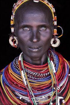 nontransparent:  Northern Kenya'n woman with blue eyes