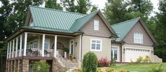 Best House Colors With Green Roof Metal Roofing Projects To 400 x 300