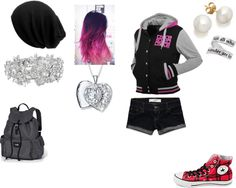 """My outfit on summer break"" by emo-gothchick ❤ liked on Polyvore"