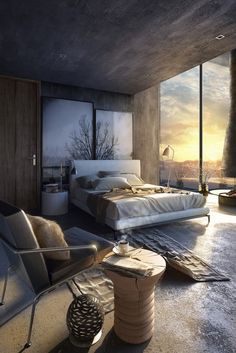Small Bedroom with Minotti Furniture