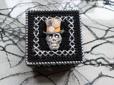 Steampunk Silver And Black Trinket Box