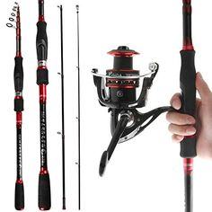 2 x 1.5m Fishing Travel Rod /& Reel combo Drago  with  Line car Suitcase Size