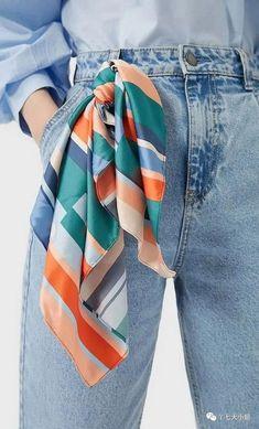 7 cách biến tấu với khăn bandana của cô nàng sành điệu Casual Outfits, Fashion Outfits, Womens Fashion, Color Type, Fiesta Outfit, Ways To Wear A Scarf, Diy Vetement, Mode Kpop, Scarf Design
