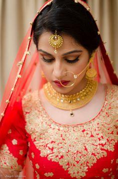 Gold Maangtikka Best Wedding Makeupwedding Makeup Artistindian Bridal