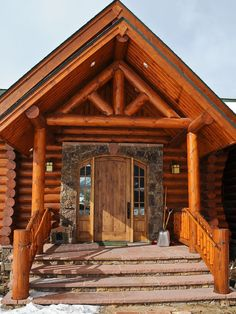Mountain Log Homes, CO. Machine milled logs