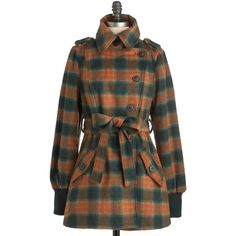 Blutsgeschwister Pumpkin Pale Ale Coat ($164) found on Polyvore- any wool in my stock (over-dye the grey check