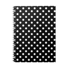 Black and White Polka Dot Notebook (740 RUB) ❤ liked on Polyvore featuring home, home decor and stationery