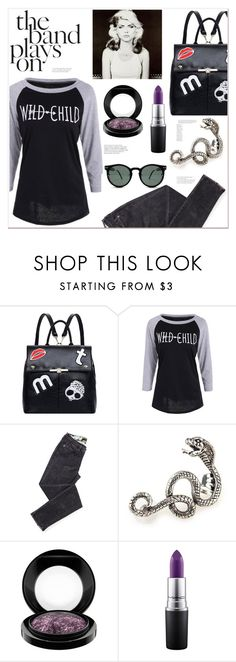"""""""The band plays on..."""" by mycherryblossom ❤ liked on Polyvore featuring Behance, MAC Cosmetics and Spitfire"""