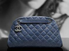 Chanel calfskin bowling bag with interior pocket with clip closure (Cruise Mk Handbags, Handbags Online, Chanel Handbags, Handbags Michael Kors, Chanel Tote, Coco Chanel, Designer Handbags Outlet, Prada Purses, Gucci