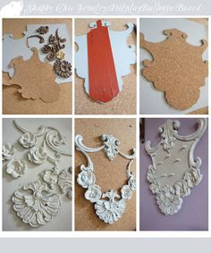 shabby chic diy rolling pin | ... Fashion Roar: Shabby Chic Jewelry Display Bulletin Board-DIY