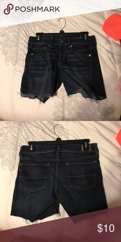 Size 4 American Eagle Shorts Worn once. Great condition. Dark blue color. American Eagle Outfitters Shorts Jean Shorts